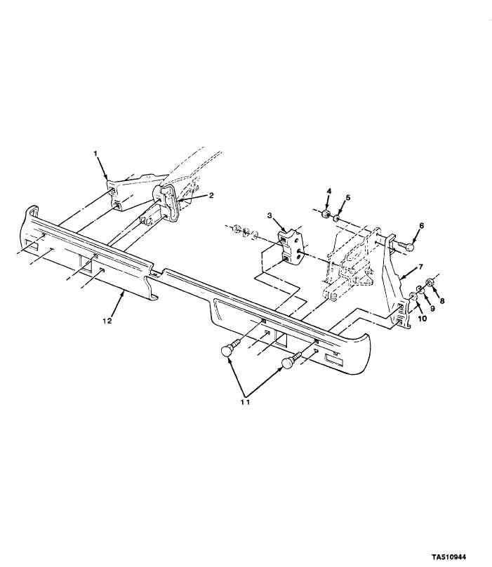 Figure 109 Rear Bumper And Mounting Parts M1009